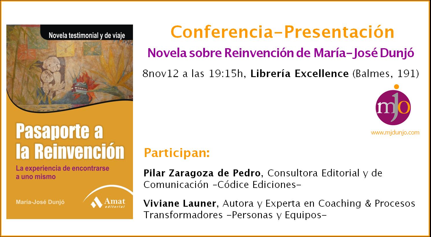 Invitación Presentación LIBRO, Barcelona
